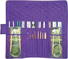 Yazzii Quilted Cotton Knitting Needle Case, Purple by Notions - In Network: Amazon.ca: Home & Kitchen