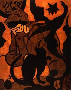 'Witch and Cat' (1893). Paul Ranson