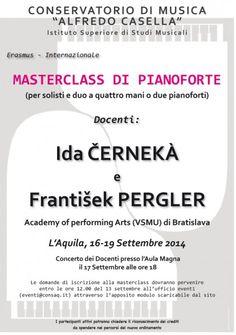Ida Cernekà e Frantisek Pergler - Masterclass