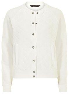 Ivory quilted varsity jacket - Jackets & Coats  - Clothing