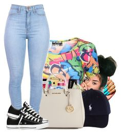 """"""""""" by abriannaj ❤ liked on Polyvore featuring Converse"""