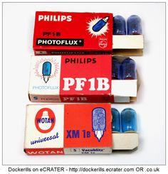 Vintage Philips & Wotan Photographic Flash Bulbs.