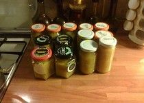 Jablečné čatní Chutney, Beer Bottle, Tea Lights, Candles, Food, Meal, Essen, Hoods, Chutneys