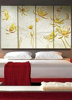 Newdecor 3D Wall Art Lotus Big