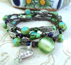 Sundance bead bracelet Hills Tribe silver by BlueRanchJewelry, $35.00