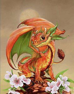 Peach Dragon Digital Art by Stanley Morrison / small dragon / cute dragon / little dragon / fantasy creature Fantasy Dragon, Dragon Art, Magical Creatures, Fantasy Creatures, Fantasy Kunst, Fantasy Art, Dragon Pictures, Pictures Of Dragons, Cute Dragons