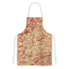 Kess InHouse Ingrid Beddoes 'Vintage Blossoms' Orange Flower Artistic Apron