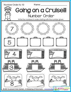 Kindergarten counting worksheets created specifically for the month of July include summer themed and Fourth of July pages as well as counting to 5, counting to 10, counting to 100 by ones, color by number, number order and more! Counting Worksheets For Kindergarten, Summer Worksheets, Graphing Worksheets, Alphabet Tracing Worksheets, Upper And Lowercase Letters, Lower Case Letters, Number Number, Writing Lines, Learn To Count