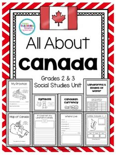Canada: Provinces, Territories, Symbols, Bodies of Water Canada For Kids, All About Canada, Canadian Social Studies, Teaching Social Studies, Social Studies Activities, Class Activities, Water Activities, Canadian Culture, Canadian History