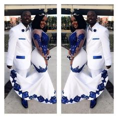 New White Satin Royal Blue Lace Aso Ebi African Prom Dresses Long Illusion Sleeves Applique Evening Formal Gowns Pageant Celebrity Dress Yellow Prom Dresses Ball Gown Prom Dresses From - African Print Wedding Dress, African Wedding Attire, African Attire, African Weddings, African Prom Dresses, Latest African Fashion Dresses, African Print Fashion, Blue Dresses, Dresses Uk