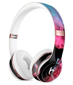 Vivid Pink and Teal liquid Cloud Full-Body Skin Kit for the Beats by Dre Solo 3 Wireless Headphones We are selling best quality and branded headphones visite out website now to buy evlutionary wireless earphones and headphones Workout Headphones, Cute Headphones, Over Ear Headphones, Beats By Dre, Casque Audio Sony, Bluetooth Headphones, Headset, Phone Accessories, Schmuck