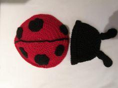 Items similar to Lady Bug Beanie and Cape Photo Prop on Etsy Lady Bug, Photo Props, Bugs, Cape, Beanie, Crochet, Creative, Handmade, Stuff To Buy