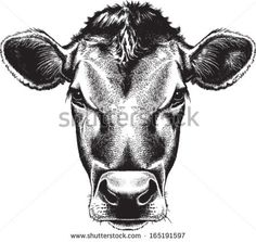 When you think about face painting designs, you probably think about simple kids face painting designs. Many people do not realize that face painting designs go Cow Vector, Vector Art, Vector Stock, Cow Tattoo, Cow Logo, Cow Drawing, Black And White Sketches, Cow Head, Cow Face