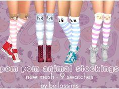 Pom Pom Animal Stockings - The Sims 4 Download - Gluppr