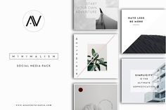 MINIMALISM | Social Media Pack  @creativework247