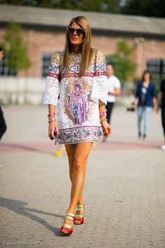 Anna Dello Russo at Missoni. Werk that print girl.