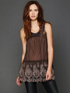 Free People Mirror Mirror Sequin Tunic, $168.00 want a dressy top like this. just not this expensive