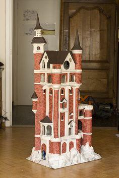 papier maché castle