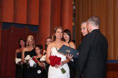 Stacie & Chris  ceremony at the Campus Theatre