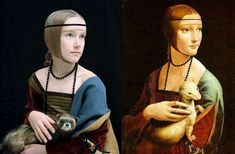 Faux Antique Celebs: Photoshopping French Classic Paintings Into Modern Celebrity Shots