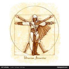 : Vitruvian Assassins T-Shirt~ $10 Assassin's Creed tee at RIPT today only!