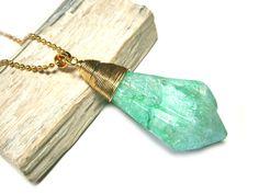Weiteres - Kette Fluorit Halskette vergoldet Anhänger Quarz - ein Designerstück von DeineSchmuckFreundin bei DaWanda