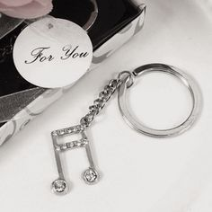 Melody Key Chain Music Favors
