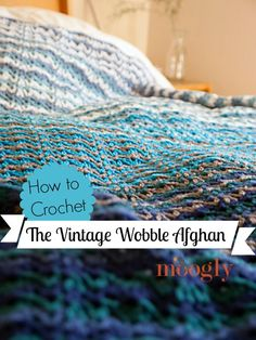 Learn how to crochet the Vintage Wobble Afghan stitch in this video tutorial! From mooglyblog.com - Right & Left handed versions now included!