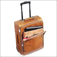 Wheeled Carry On Luggage with Laptop Compartment