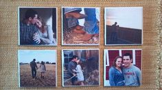 Ceramic tile coasters  engagement pictures by charlotteshelley, $15.00