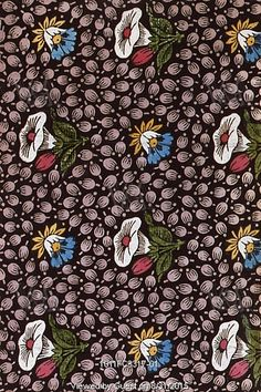 Morning Glory textile design. France, 19th century