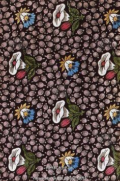Morning Glory textile design. France, 19th century