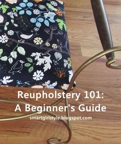 Basic Reupholstery Tutorial: Seat Cushion