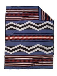INDIAN KING SIZE BLANKETS   Spirit Peaks Blanket inspired by the design of an old Navajo rug. The ...