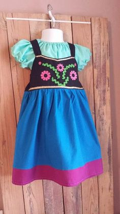 Frozen Inspired Anna Dress and Peasant Blouse Costume