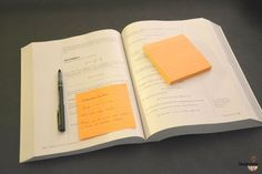 Place a Post-it® Super Sticky Note on your book or notebook — without looking back, write down what you remember reading. If you can't remember, go back and relearn the information and try your self-quiz again.