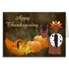 Everything Horse and Pony: Cute Appy Thanksgiving Appaloosa Horse Greeting Ca...