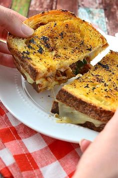 BBQ Chicken Grilled Cheese Sandwich by @LifesAmbrosia