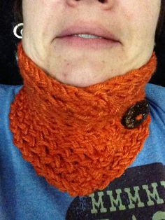 Knitted neck-warmer, available at http://www.etsy.com/shop/byBrendaS