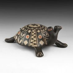 Wright's Indian Art: Polychrome Two Headed Turtle by Mary Janice Ortiz