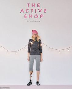Work it! She landed a gig in Nordstrom's 2015 holiday catalog modeling athleticwear...