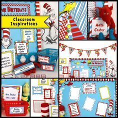 Oh! The wonderful things you can do with our Seuss-like Classroom Décor! We've used colors that match perfectly with your commercially purchased Dr. Seuss classroom products. $