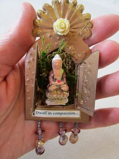 May You Dwell in Compassion tiny portable by sacredcreativityart