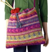 Doll Bag | Berroco (free crochet pattern)