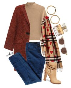 Babe, It's cold outside. by nsbw on Polyvore featuring polyvore, fashion, style, Theory, Bohème, J Brand, Steve Madden, Vince Camuto, Burberry, Illesteva, Givenchy, clothing and winterscarves