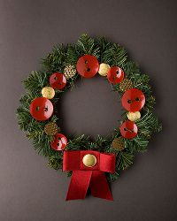 Red and Gold Holiday Wreath