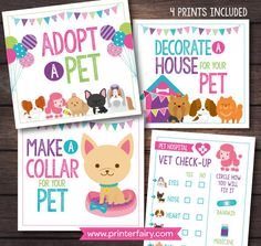 Pet Adoption Party Puppy adoption party Puppy birthday - Tap the pin for the most adorable pawtastic fur baby apparel! You'll love the dog clothes and cat clothes! <3
