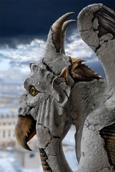 Check out this Photoshop Design for DesignCrowd (Community Contests) Conception Photoshop, Statues, Dragons, Gothic Gargoyles, Photoshop Design, Green Man, Magical Creatures, Stone Carving, Lion Sculpture