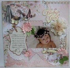 Layout Idea - Baby Scrapbook