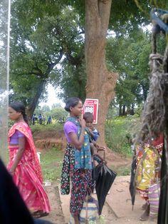 A Tribal Woman in village market (Haat), Dantewada, Bastar